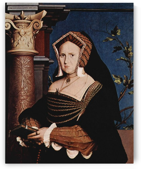 Portrait of rich lady by Hans Holbein