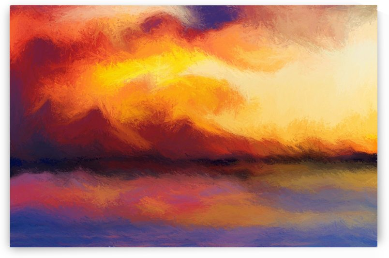 Sunset in the Mountains 24 by Angel Estevez