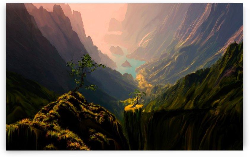 Green Canyons by Angel Estevez