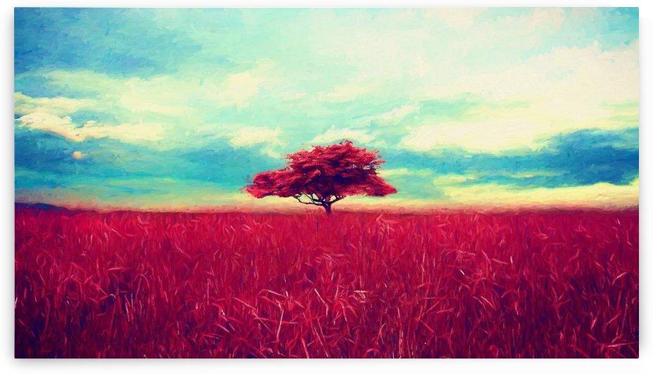 Red Tree by Angel Estevez