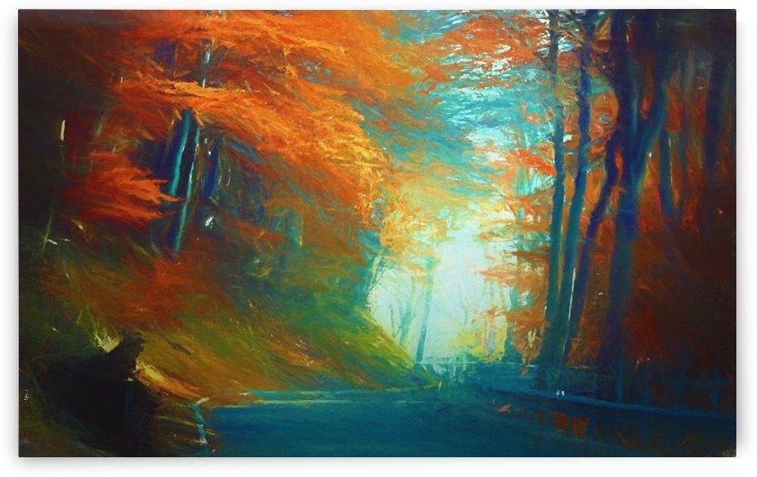 Autumnal Landscape 3 by Angel Estevez