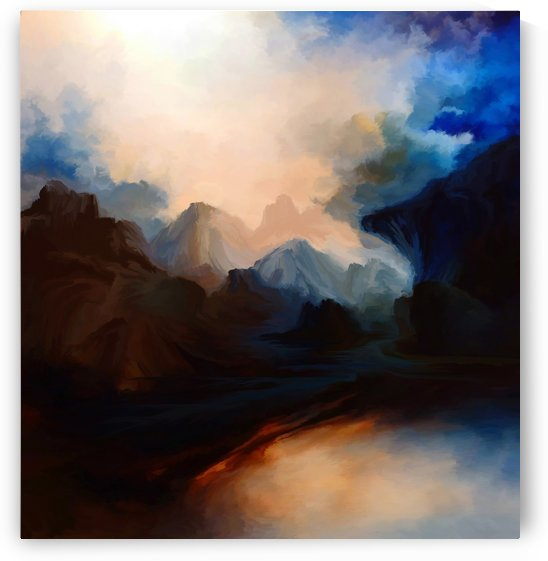 Sunset in the Mountains 25 by Angel Estevez
