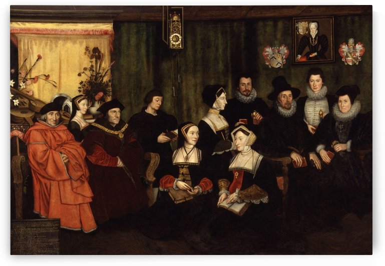 Sir Thomas More, his father, his household and his descendants by Hans Holbein