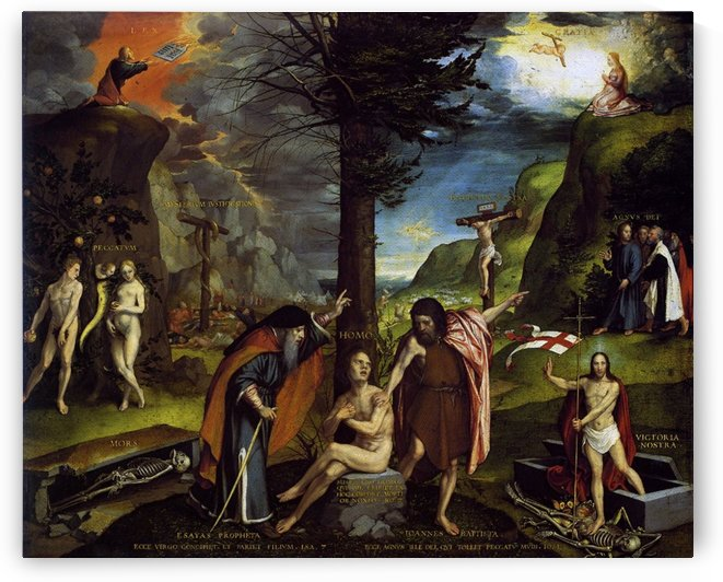 An Allegory of the Old and New Testaments by Hans Holbein