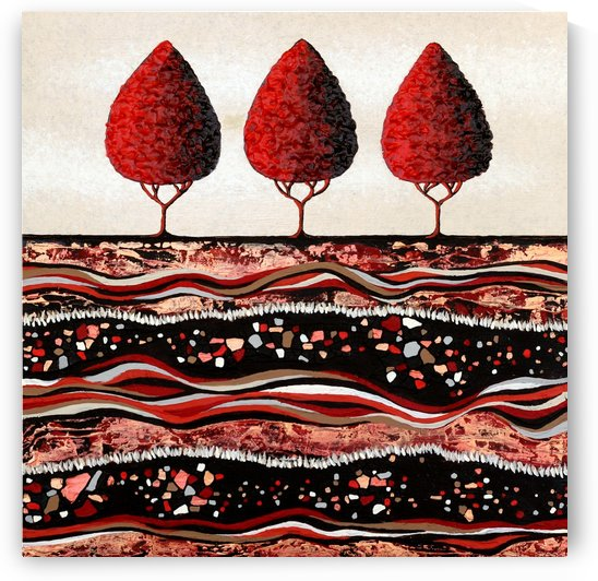 Red Trees by Lisa Frances Judd