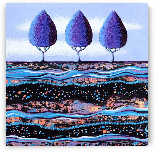 Purple Trees by Lisa Frances Judd