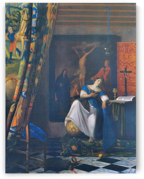 Allegory of Faith by Vermeer by Vermeer