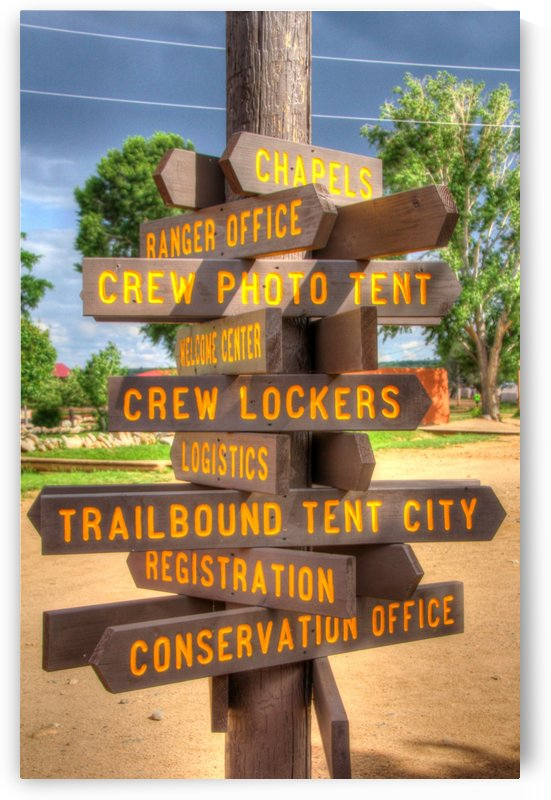 Trail Signpost by Bob Vogt