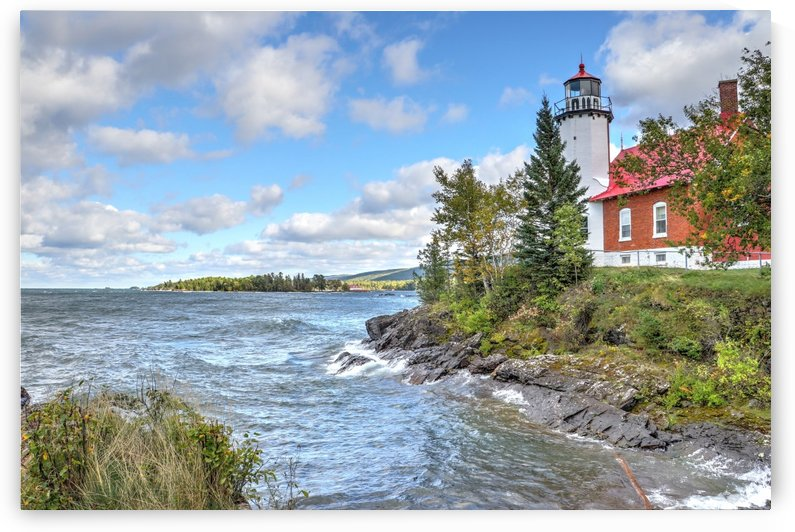 Lake Superior Lighthouse 3 by Bob Vogt
