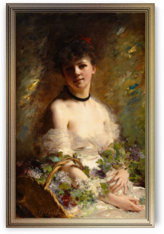 Young Woman with Flower Basket by Charles Joshua Chaplin by xzendor7