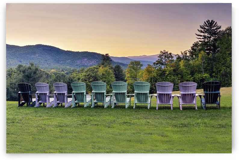 Ten Chairs at Sunset  by Lee Fortier