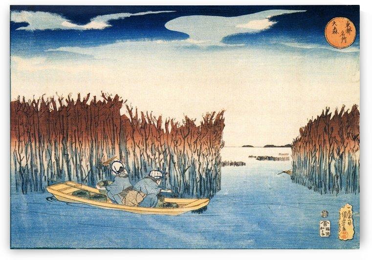 Seaweed Gatherers at Omari by Utagawa Kuniyoshi
