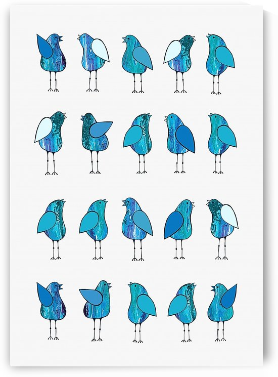 Gossip Birds Blue by Lisa Frances Judd