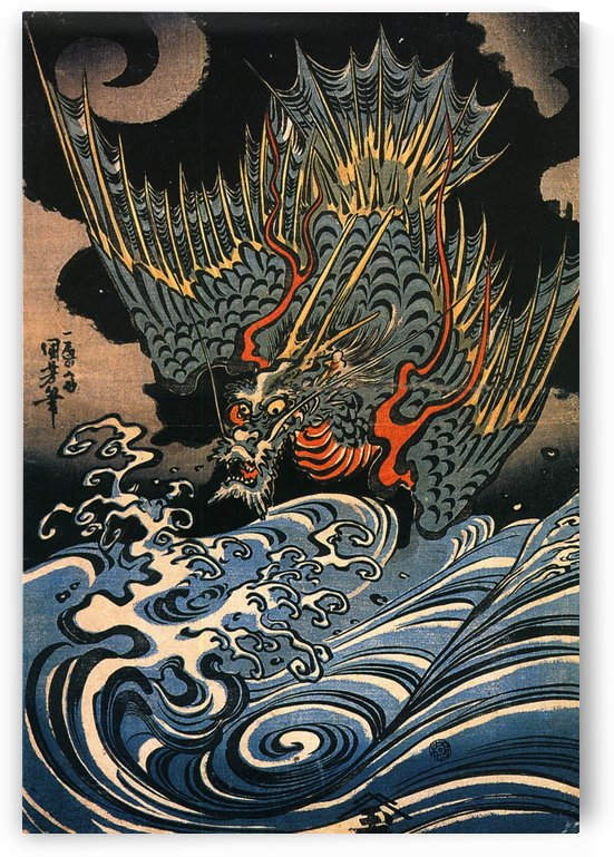 Blue Dragon by Utagawa Kuniyoshi