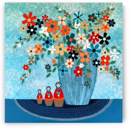 Babushka Love Floral by Lisa Frances Judd
