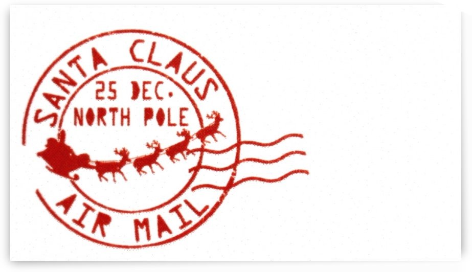 Santa Claus Christmas Post Mark Stamp by Alex Pell