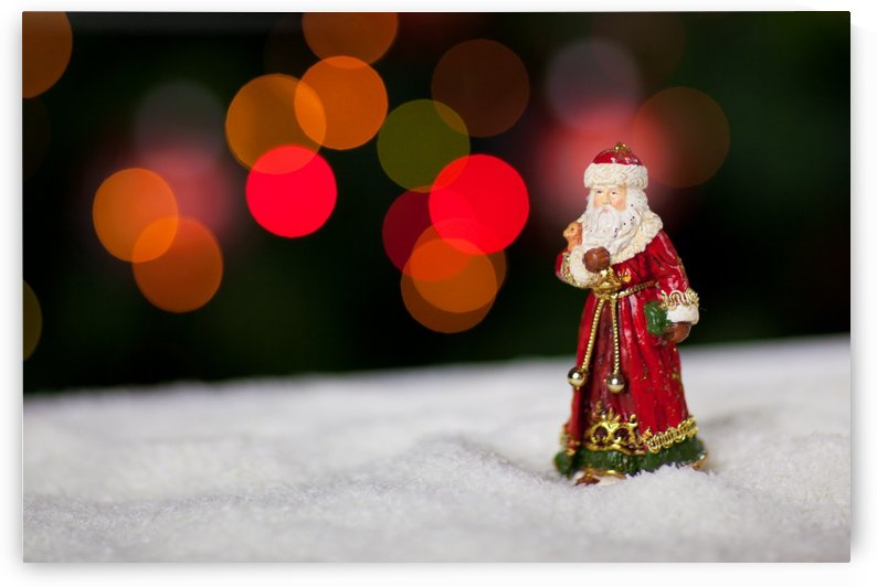 Santa Claus in snow by Alex Pell