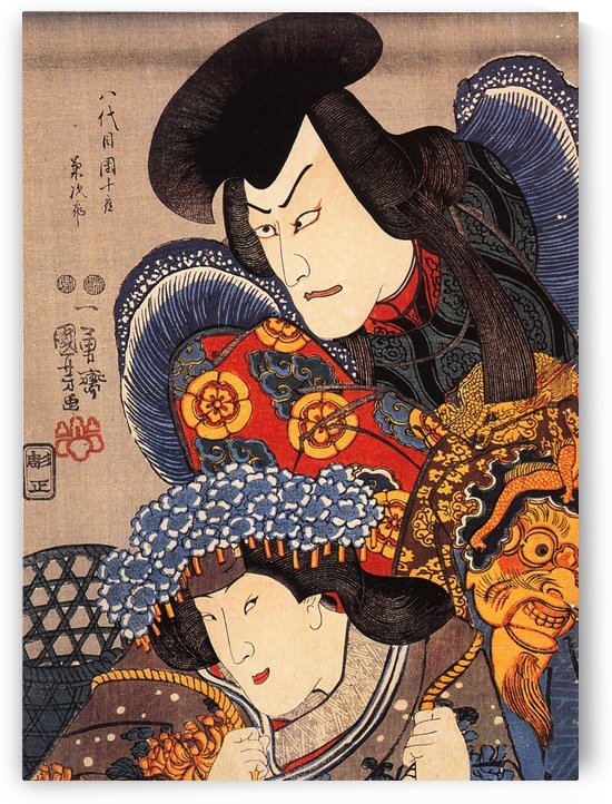 Two actors by Utagawa Kuniyoshi