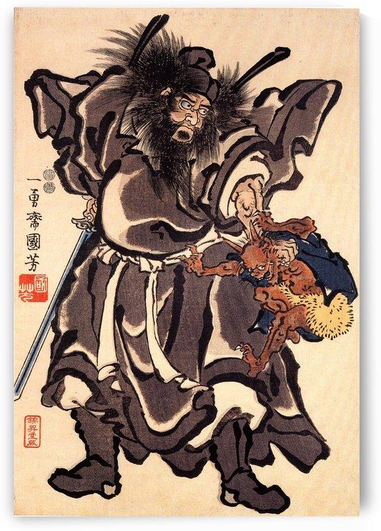 Shoki and Demon, Edo period by Utagawa Kuniyoshi