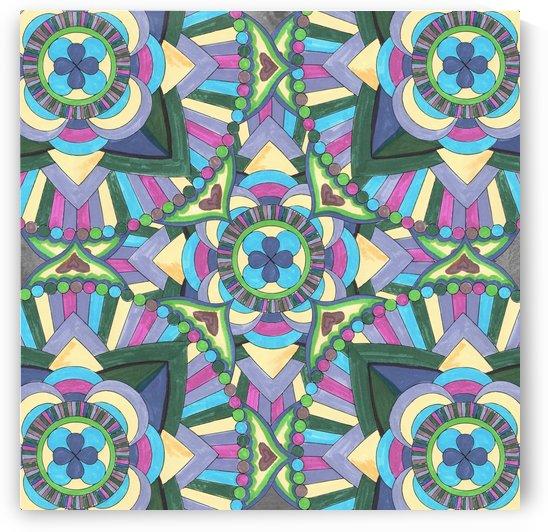 Hand Painted Watercolor Mandala Meditation Pattern  by Irina Sztukowski