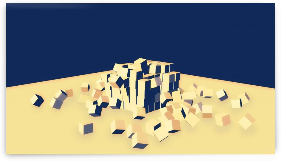 Yellow And Blue Cubes       by Smithson