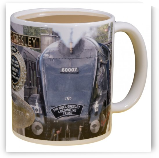 SIr Nigel Gresley mug 60007 Grosmont by Edwin John by Edwin John