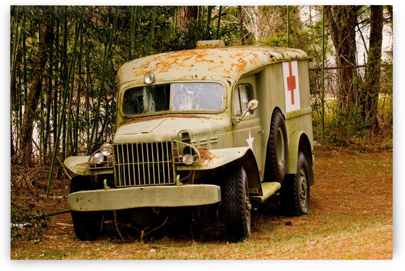 Old Shot Up Medic Truck by Darryl Brooks