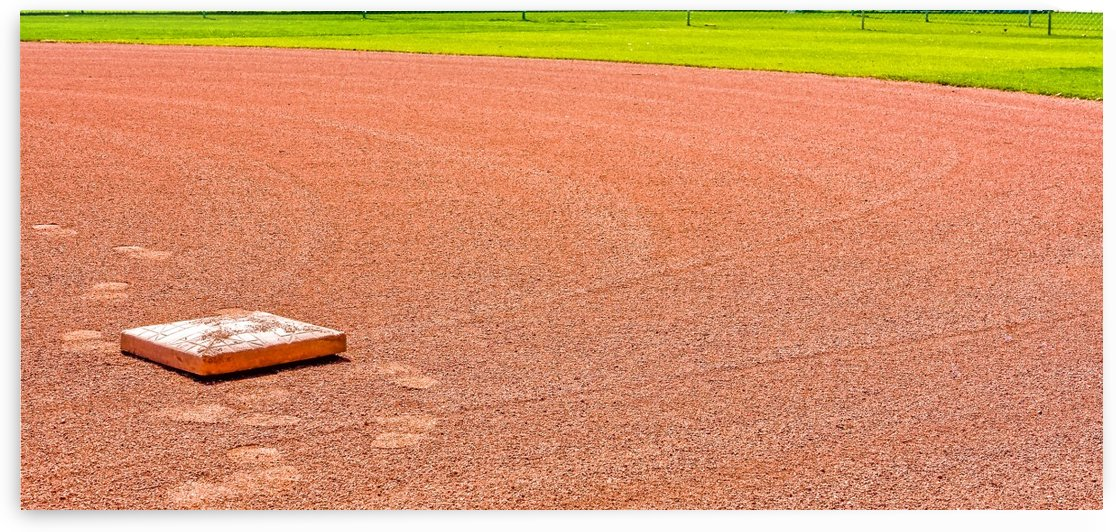 Tracks Rounding First Base by Darryl Brooks