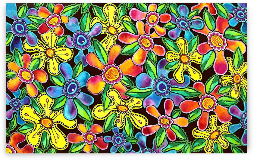 Funky Flowers by Lisa Frances Judd
