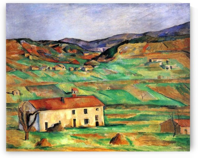 Around Gardanne by Cezanne by Cezanne