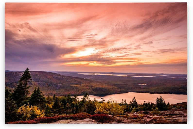 Cadillac Mountain Sunset by Ed St Germain
