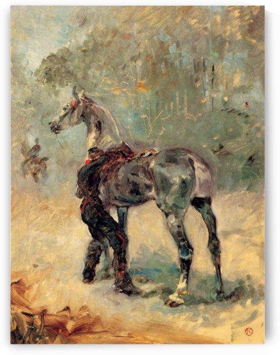 Artilleryman and his horse by Toulouse-Lautrec by Toulouse-Lautrec