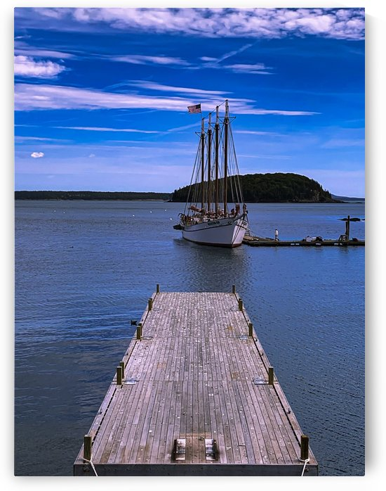 Bar Harbor Waterfront Maine by Kerry Frysinger