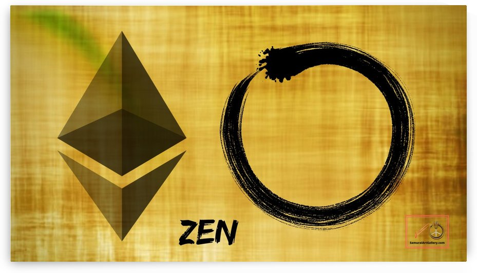 zen etherium enzo print 150 dpi by Asian Wisdom and Crypto Art