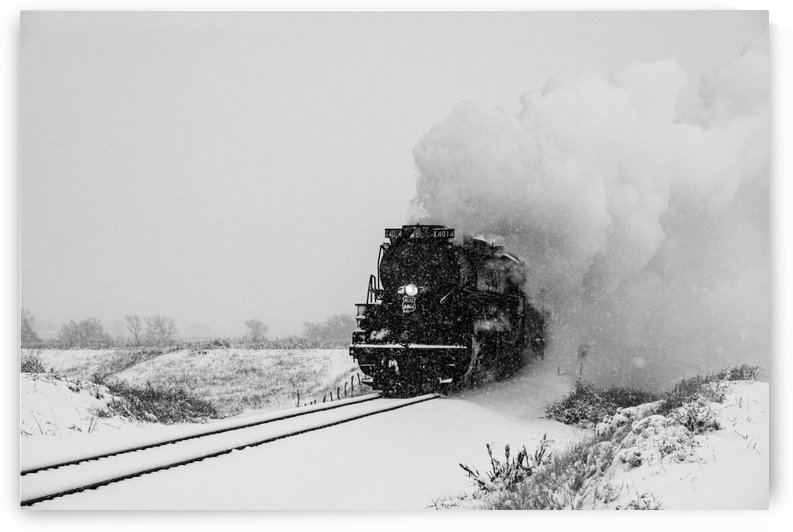 UP Engine 4014 Emerging From The Past.BW by Garald Horst