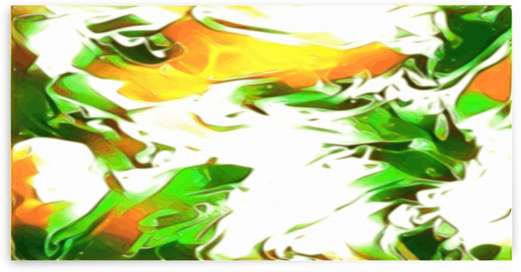 Legendary - green gold and white abstract swirls wall art by Jaycrave Designs