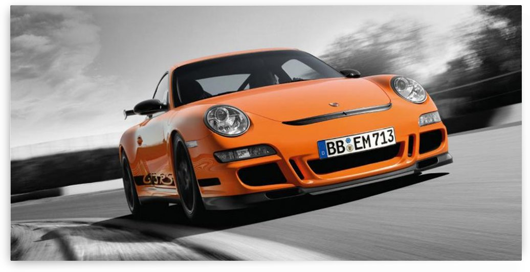 10x20_OrangeGT3RS_Front by Speed Frame by Kenneth Ross
