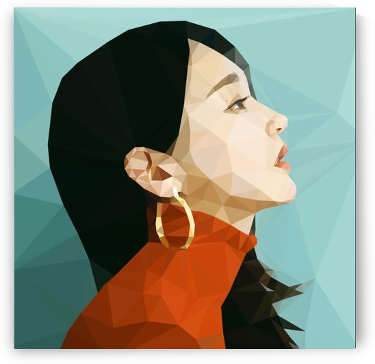 Kang Min Kyung Low Poly Art by Anthony Taylor