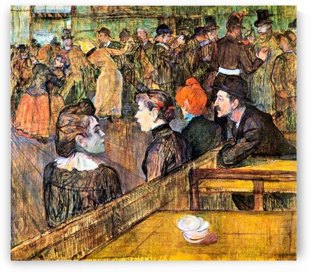 At the Moulin de la Gallette by Toulouse-Lautrec by Toulouse-Lautrec