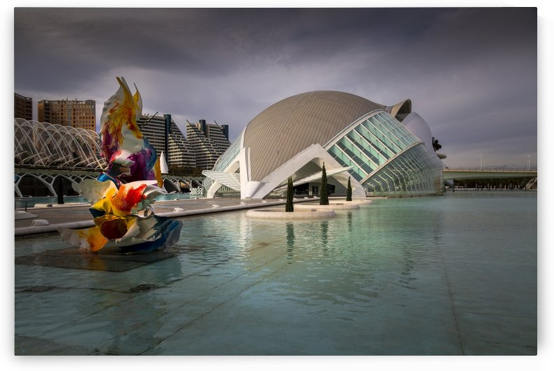 The Hemisferic building in Valencia by Leighton Collins