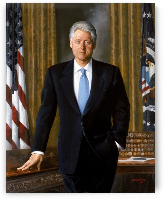 Painting Of Former President Bill Clinton   by Smithson