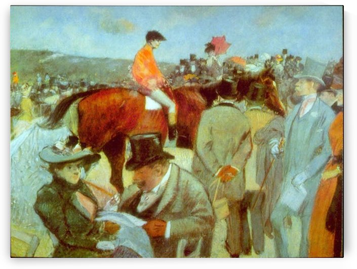 At the Races by Forain by Forain