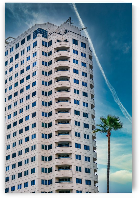 White Tropical Condo Tower by Darryl Brooks