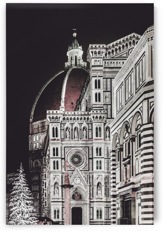 Santa Maria del Fiore  Cathedral at Night, Florence Italy by Daniel Ferreia Leites Ciccarino
