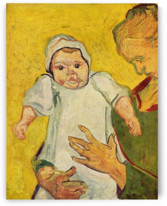 Augustine Roulin with her infant by Van Gogh by Van Gogh