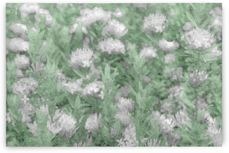 Green and White Textured Botanical Motif Manipulated Photo by Daniel Ferreia Leites Ciccarino