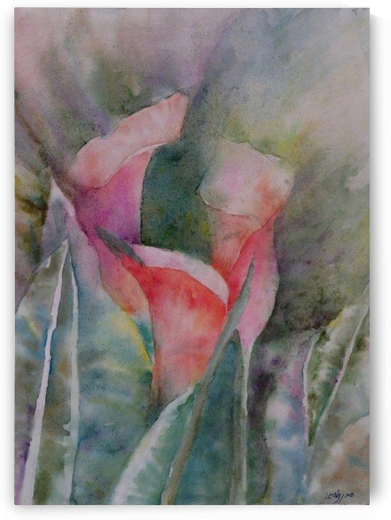 Three Lilies by Leah Saban
