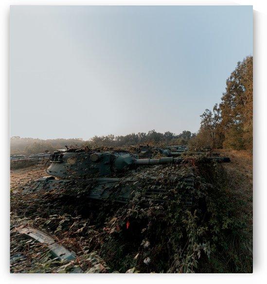 Abandoned Tank Graveyard w- Vines by Steve Ronin