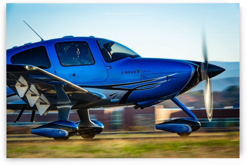 Cirrus Airplane Taxi by RBA Photography
