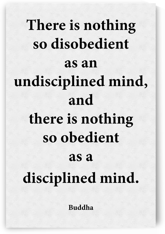 Disciplined Mind by Scripture on the Walls